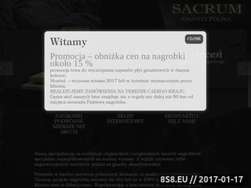 Zrzut strony Nagrobki - Sacrum