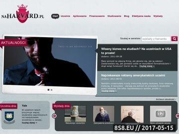 Zrzut strony Portal o studiowaniu w USA