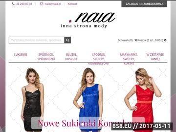 Zrzut strony Naia - inna strona mody