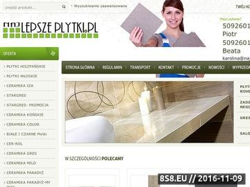Zrzut strony Najlepszeplytki.pl - płytki ceramiczne, glazura i terakota