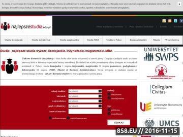Zrzut strony Studia magisterskie