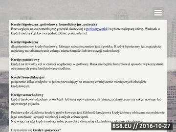 Zrzut strony Porównywarka kredytów, ubezpieczeń, lokat i kont