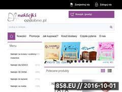 Miniaturka domeny www.naklejkiozdobne.pl