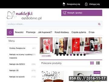 Zrzut strony NaklejkiOzdobne.pl - dekoracje