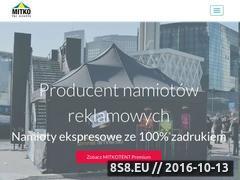 Miniaturka domeny www.namioty-handlowe.pl