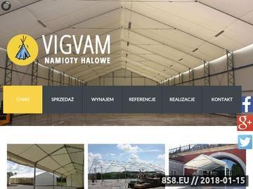 Zrzut strony Namioty - produkcja, VIGVAM