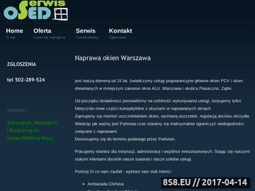 Zrzut strony Naprawa okien, serwis Warszawa - OSED