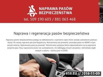 Zrzut strony Naprawa pasów bezpieczeństwa