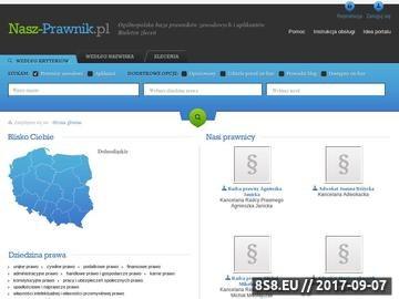 Zrzut strony Ogólnopolska baza prawników zawodowych i aplikantów