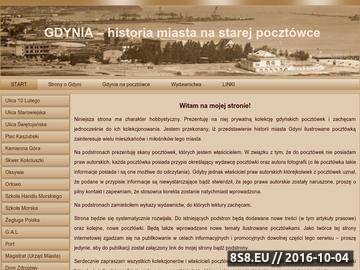 Zrzut strony Gdynia historia miasta na starej pocztówce