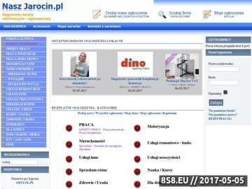 Zrzut strony Nasz Jarocin - Ogłoszenia lokalne . Oferty firm.