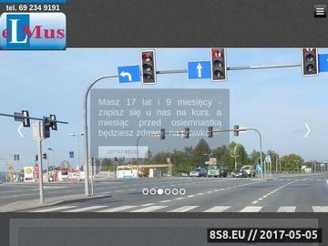 Zrzut strony Nauka Jazdy ELMUS - F.Sz.U. Zbigniew Musik, Olszanica 208, tel 69 234 9191.