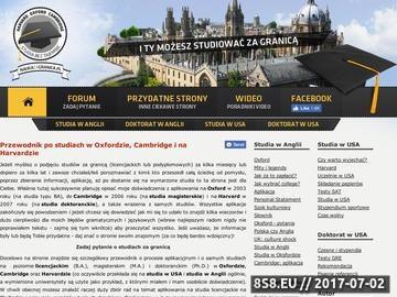 Zrzut strony Oxford