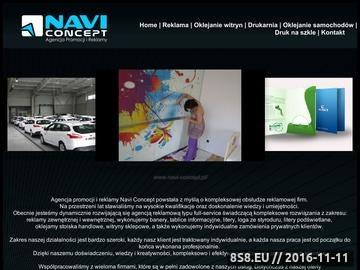 Zrzut strony Artykuły reklamowe Navi Concept