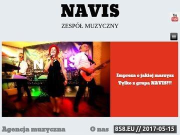 Zrzut strony Zespół na wesele Navis