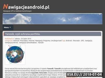 Zrzut strony Nawigacje Android