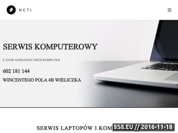 Zrzut strony Komputery Kraków