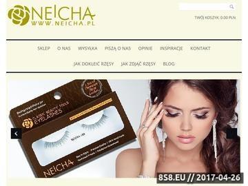 Zrzut strony Neicha - świat ekskluzywnych rzęs