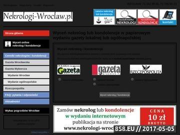 Zrzut strony Nekrologi i kondolencje w prasie lokalnej i ogólnopolskiej