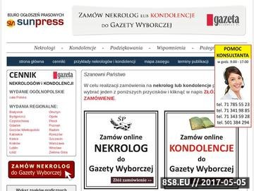 Zrzut strony Gazeta Wyborcza nekrologi