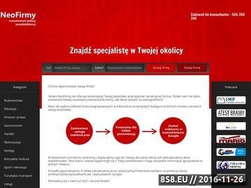 Zrzut strony NeoFirmy - katalog branżowy i wyszukiwarka firm