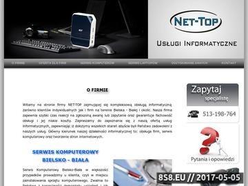 Zrzut strony NET-TOP USŁUGI INFORMATYCZNE, SERWIS KOMPUTEROWY BIELSKO-BIAŁA