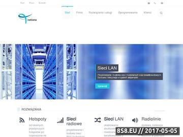 Zrzut strony Netiona - Integrator rozwiązań sieciowych