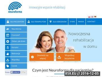 Zrzut strony Wsparcie rehabilitacji neurologicznej w domu. SM, udar mózgu i urazy mózgu.