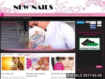 Zrzut strony Kursy stylizacji paznokci i kosmetyczne NEW NAILS (manicure, pedicure) Warszawa