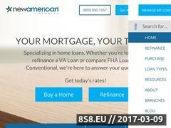 Thumbnail of Maryland home loans - New American Funding Website