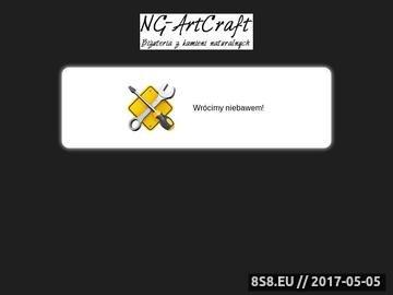 Zrzut strony NG-ArtCraft artystyczna biżuteria z kamieni naturalnych