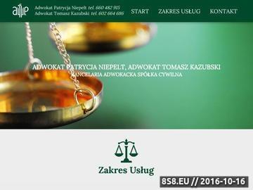 Zrzut strony Obsługa prawna osób i firm