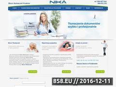 Miniaturka domeny nika-tlumaczenia.pl