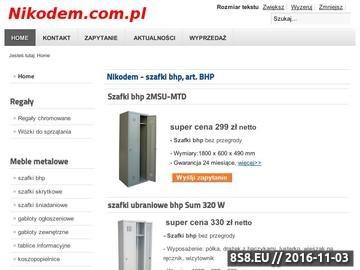 Zrzut strony Nikodem - szafki ubraniowe BHP