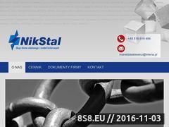 Miniaturka domeny nikstal.com.pl
