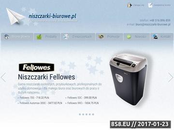 Zrzut strony Biurowe niszczarki, laminatory, gilotyny oraz bindownice