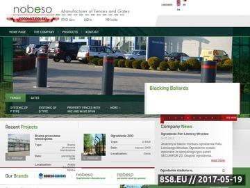 Zrzut strony Ogrodzenia i bramy firmy Nobeso