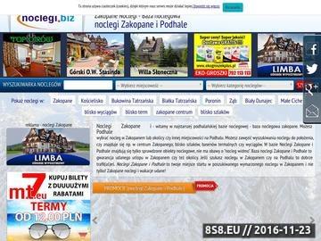 Zrzut strony Tanie pensjonaty w Zakopanem