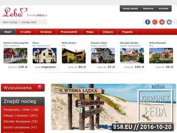 Zrzut strony Noclegi w Łebie - Hotele, Kwatery, Pensjonaty, Pokoje, SPA, Mapa Łeby