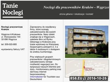 Zrzut strony Noclegi pracownicze Kraków