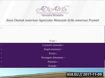 Zrzut strony Usługi notarialne w Poznaniu