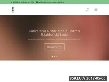 Zrzut strony Kancelaria notarialna Łódź - notariusze Borten i Jabłońśki