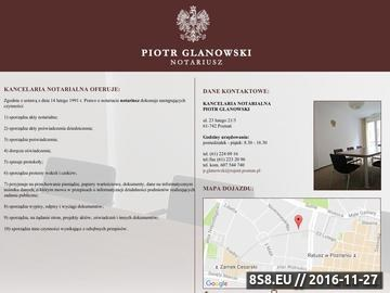 Zrzut strony Notariusz Poznań
