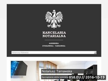 Zrzut strony Kancelaria notarialna w Katowicach - notariusz-tarnawska.pl