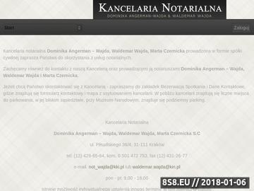 Zrzut strony Notariusz Kraków