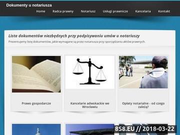 Zrzut strony Kancelaria notarialna Wrocław