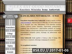 Miniaturka domeny www.notariuszantkowiakirena.pl
