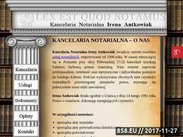 Zrzut strony Testament - notariusz Poznań