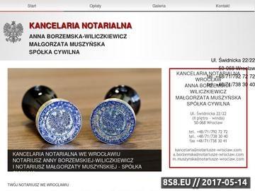 Zrzut strony Kancelaria Notarialna A. Borzemska-Wiliczkiewicz M. Muszyńska