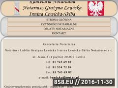Miniaturka domeny notariuszlewicka.pl